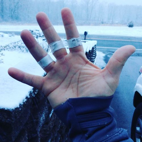 Crossfit Hand Tape Pain Winter Snow Cold