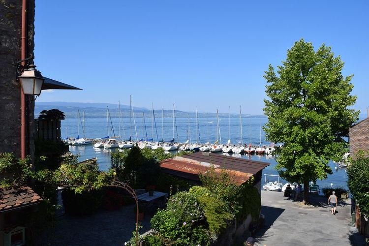 Blue Boats France Lake Lake Geneva Outdoors Water Yvoire