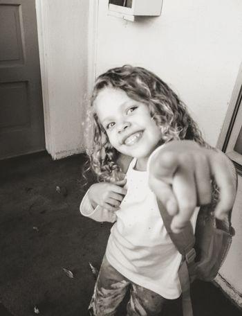 My Big Girl, Madilyn- Hi! Happy Beautiful Girl Smile Child My Daughter Black & White