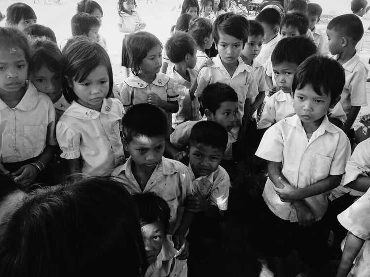 During my volunteering stint in Cambodia the children were very eager to learn anything that's foreign to them, most time, listening attentively when there is a sharing session. The kids are poor and they have very limited resources but never fail to amaze me how eager they are to learn. Live To Learn Taking Photos Eye4photography  EyeEm Best Shots - Black + White Black & White Blackandwhite Travel Volunteering