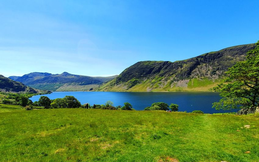 Panoramic view of the lake in lake district