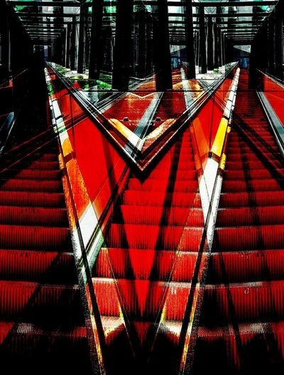 many stairs Red Built Structure Architecture No People Hello World Stairs To Nowhere Art Photography CreativePhotographer ArtPop