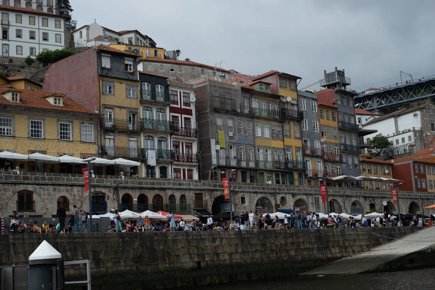 Building Exterior Architecture Built Structure Crowd Group Of People City Real People Large Group Of People Sky Nature Women Building Men Day Outdoors Residential District Transportation Street Lifestyles River Side River Douro