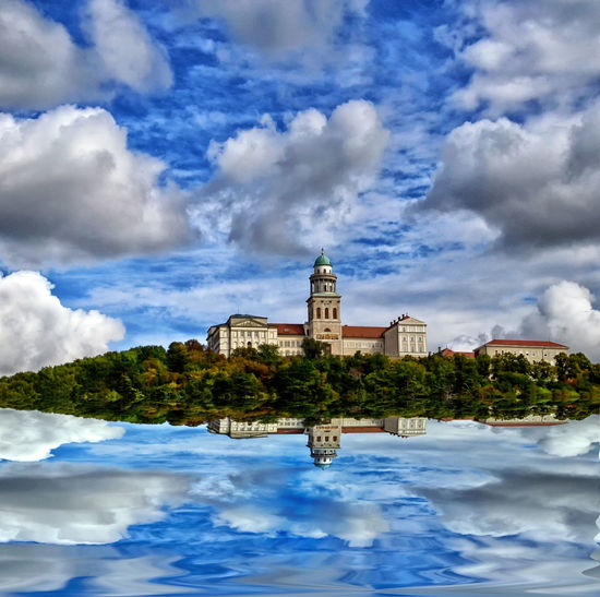 Abbey Architecture Building Exterior Cloud - Sky Clouds Dream Edited History Kreativ Monastery Monument No People Reflection Sky Temple - Building Tower Travel Destinations Water Water Reflections World Heritage