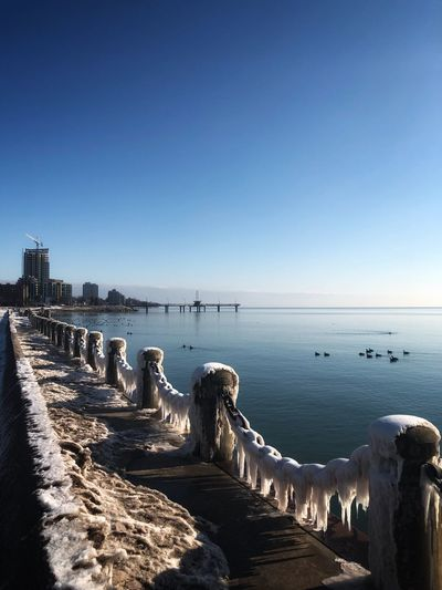 Ice Age Frozen Nature Sea Nature Architecture Copy Space Beauty In Nature Horizon Over Water No People Horizon