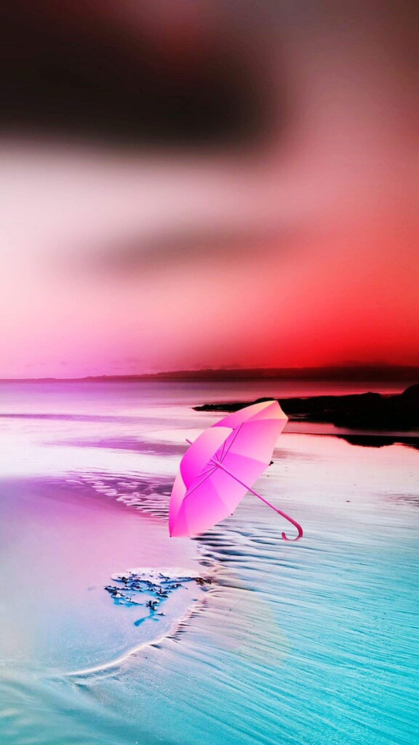 sea, beach, pink color, sunset, water, horizon over water, no people, sand, wave, paper, blue, beauty in nature, sky, nature, outdoors, close-up, day