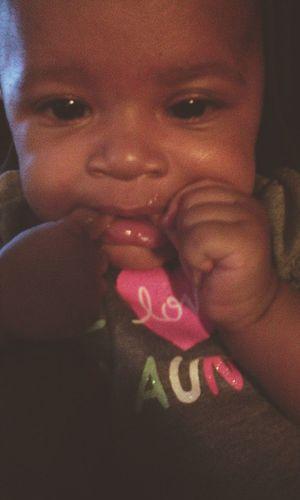 Karma Teething My Baby Girl <3 Baby ❤ My Beautiful Daughter Beautiful Girl Babygirl ♥ Loveher❤