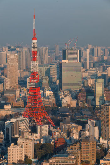 Tokyo Tower Tokyo Tower Architecture Building Exterior Built Structure City Building Cityscape Skyscraper Office Building Exterior Tall - High Travel Destinations Nature Sky Travel No People Urban Skyline Landscape Outdoors Tourism Modern Spire  Financial District