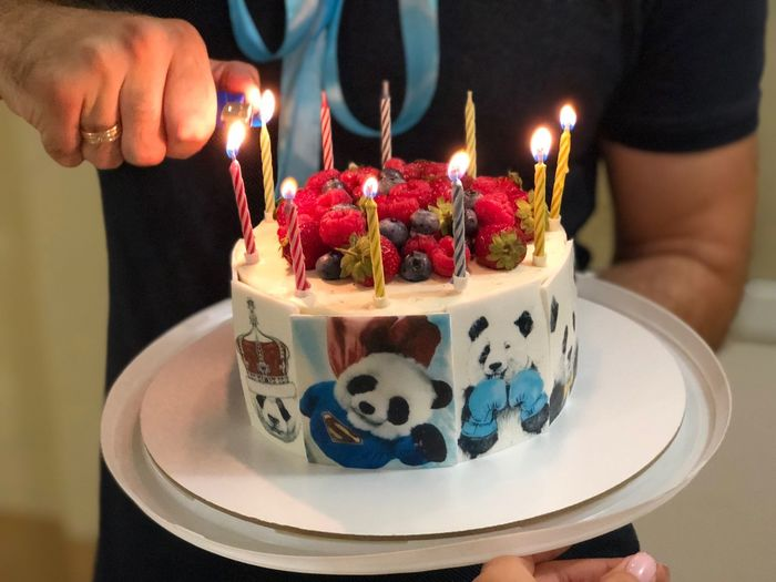 Food And Drink Burning Fire Sweet Flame One Person Candle Birthday Cake Dessert Celebration Birthday Sweet Food Event Food Midsection Holding Indulgence Cake Freshness Birthday Candles