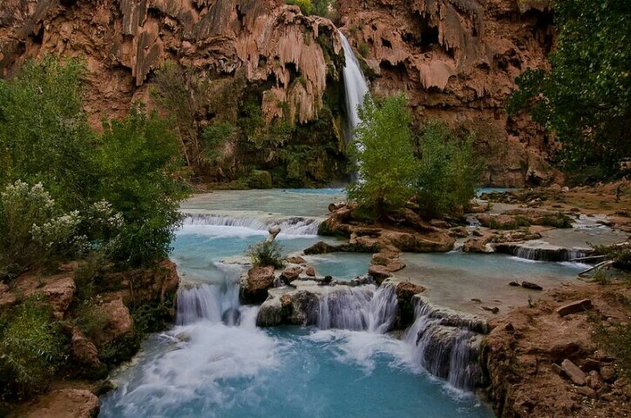 Havasu Falls Grand Canyon Havasupai Water Enjoying Life Hikingadventures