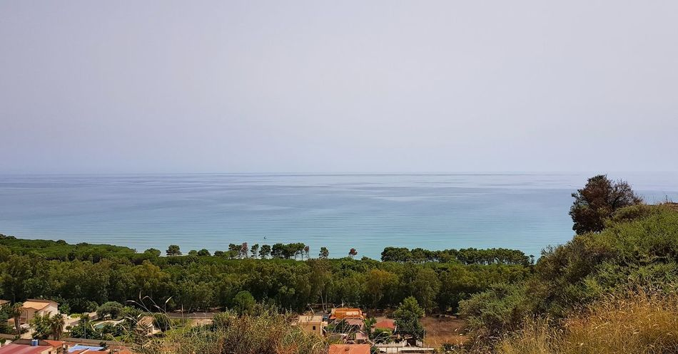 Agrigento Panoramic Photography Panoramic Landscape Agrigento Sicily Water Sea Beach Tree Sand Sky Horizon Over Water Landscape Cloud - Sky Seascape