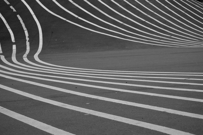 Black And White Blackandwhite Bw_collection Curve LINE Lines, Shapes And Curves Minimal Minimalism Minimalist Minimalobsession Monochrome No People Outdoors Pattern Road Simplicity Striped Urban Geometry City Urban Landscape Abstract Geometric Shape Copenhagen