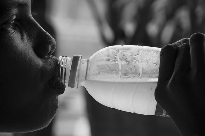 One Person Water Close-up Drinking Drink People Blackandwhite Monochrome Fresh Mineral Ilustration Ilustracion Human Body Part Portrait