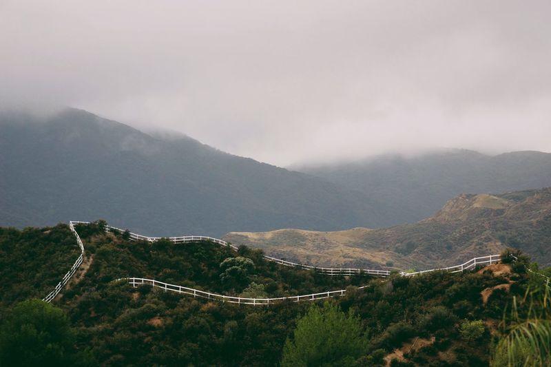 Foggy Weather California Nature Hills Taking Photos