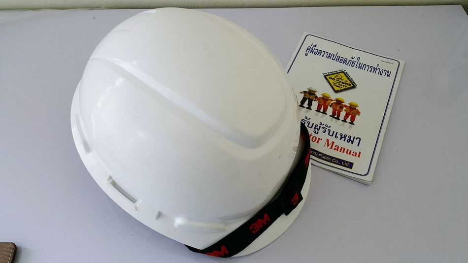 Safety Safety Hard Hat On Job In Factory Indoors  No People Close-up Day