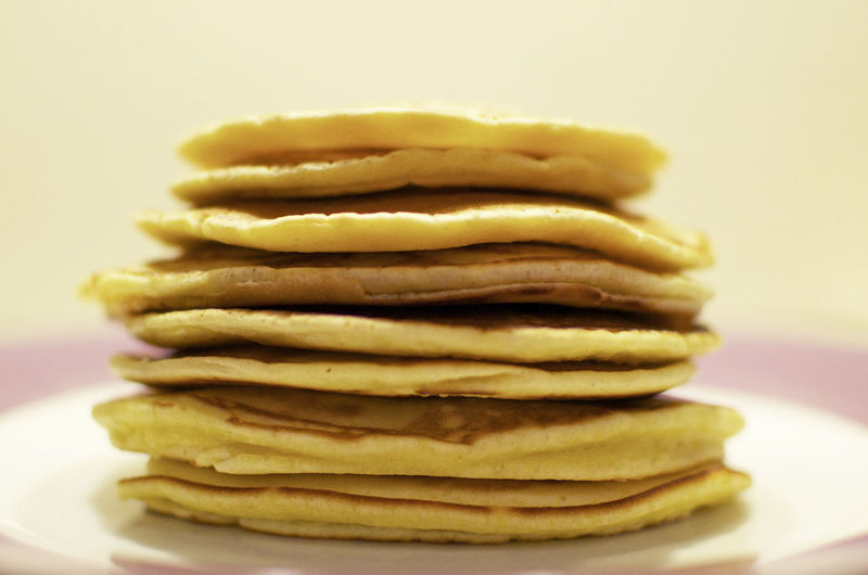 Pancakes American Breakfast Morning Close-up Food Food And Drink No People Pancake Plate Ready-to-eat Sweet Food Tower