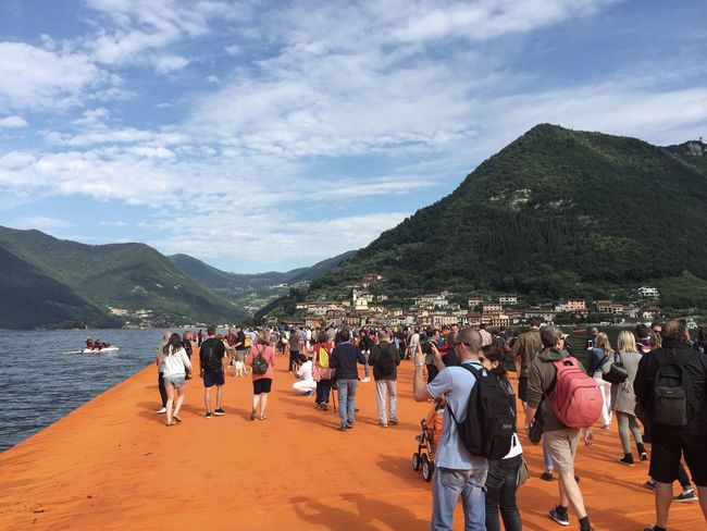 The Floating Piers Lombardy Italy Relaxing Check This Out Taking Photos Enjoying Life Beautiful View The Floating Piers By Christo Sulzano Lago Di Iseo Lago D'Iseo Italia Italy❤️ Floating Piers The Floating Piers Thefloatingpiers Original Experiences