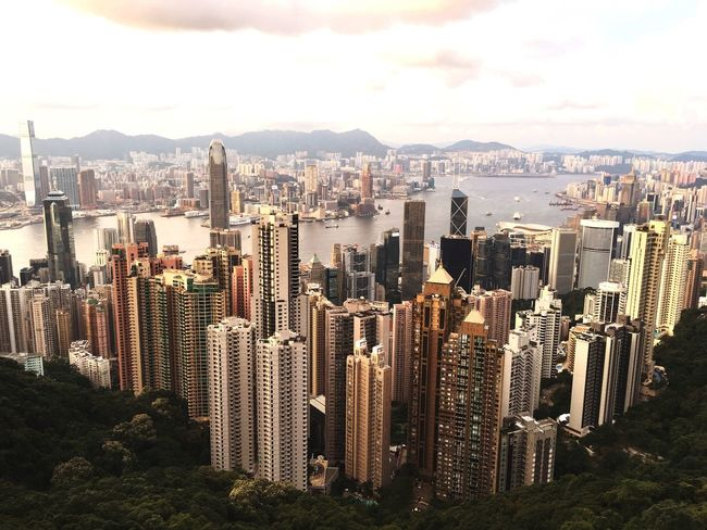 Hong Kong, city view from the Peak, 10 minutes into sunset HongKong Thepeak City Skyline View Sunset China ASIA