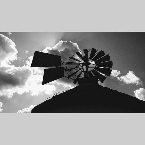 Windmill Mill House Blackwhite vscocam vscoczech squaredroid vsco clouds