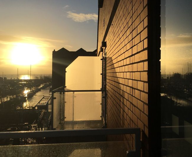 Architecture Built Structure Building Exterior No People Sunlight Hull 2017 Hull City Of Culture 2017 Winter Sky River Humber Reflections In The Glass Windows Hull Marina Geometric Shapes Balcony View