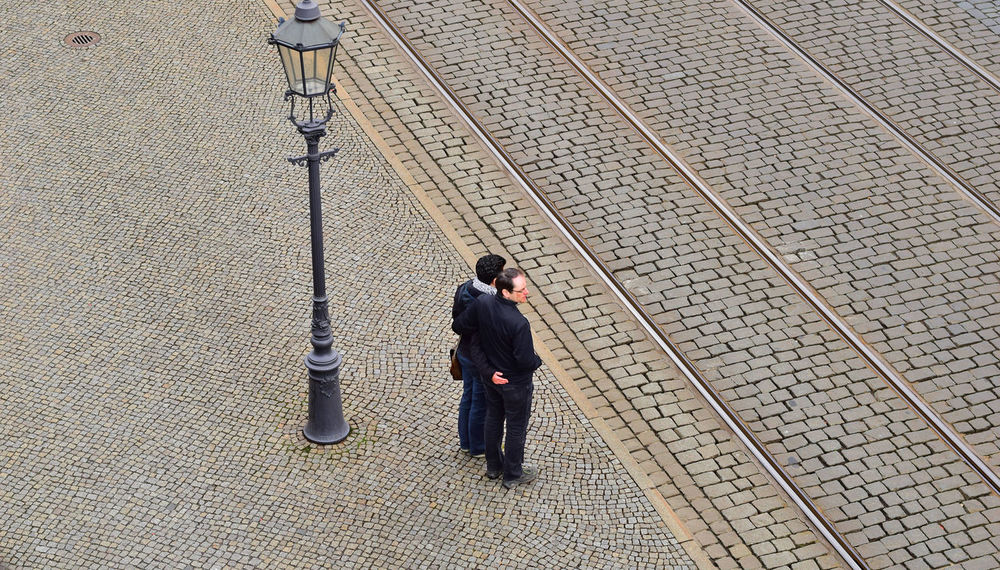 waiting for...GREEN. Anticipation Check This Out Europe Trip Holiday Leisure Activity Nikon D5300 Photographer Street Lamp Tram Tracks