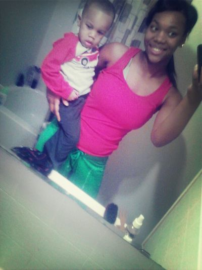 Me and my babes Markel. Excuse me I just woke up :)