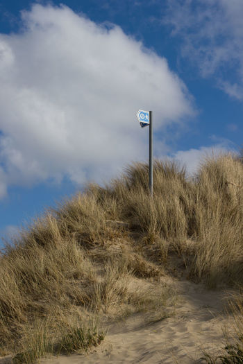 Cloud - Sky Communication Day Grass Growth Nature No People Outdoors Sand Sand Dune Sky