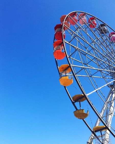 Amusement Park Clear Sky Arts Culture And Entertainment Ferris Wheel Fun Seaside Colorful