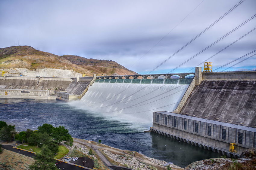 Grand Coulee Dam Grand Coulee Dam Dam Grand Coulee Wa River Huge Color HDR PENTAX K-70 Shot With A Pentax Power Power Generation Dam Water Travel Destinations Nature Scenics Power In Nature Sky Architecture No People Outdoors Day Adventures In The City