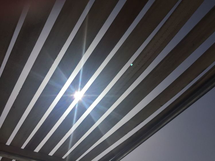 Sun deck Boat Holiday Sun Pattern Low Angle View Indoors  Full Frame Backgrounds Day Ceiling