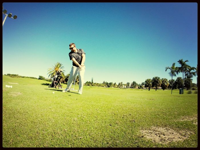 Controlling the club face on a beautiful day out at miami beach country club. Miami Golf Golf Swing SoBe Osteopath