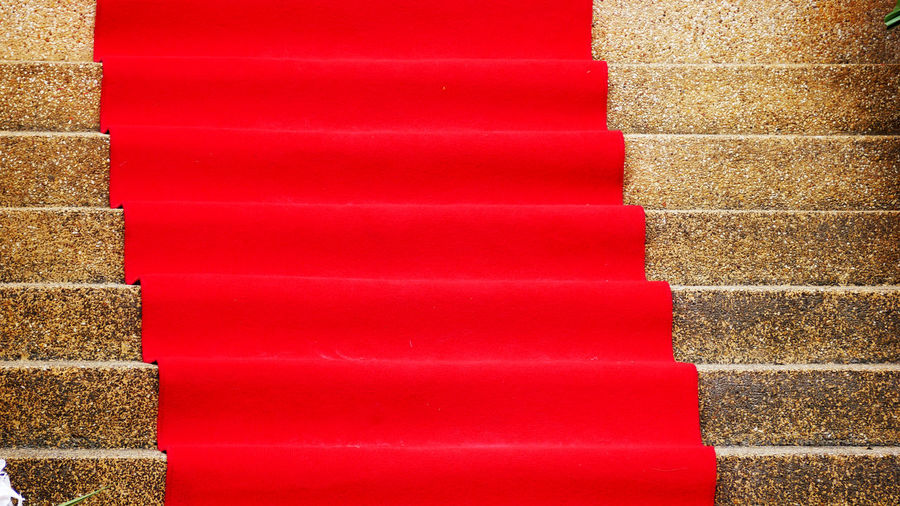Red No People Wall - Building Feature Wall Day Paint Outdoors Pattern Full Frame Backgrounds Multi Colored Staircase Close-up Brick Architecture Built Structure Steps And Staircases In A Row Brick Wall Vibrant Color