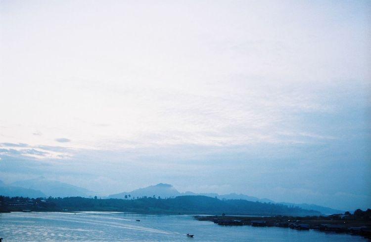 35mm Film Blue Filmneverdies Mountain Nature No People Sagklaburi Sky Thailand Water