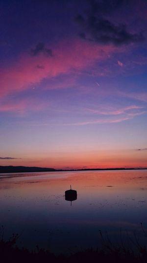 Italy Tuscany Lake Sunset Sky Clouds Lights POVshots Purple Water Salt Basin Sunset Salt - Mineral Lake Blue Sun Reflection Standing Water Dusk
