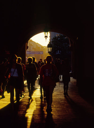 Arch City City Gate Cracow CracowCity Crowd Gate History Krakow Kraków, Poland Large Group Of People Lifestyles Men People Performance Person Silhouette Street Travel Destinations Vertical