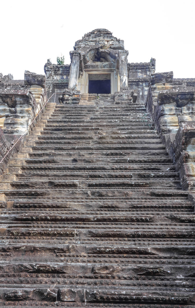 steps, steps and staircases, old ruin, ancient civilization, staircase, ancient, history, abandoned, low angle view, archaeology, architecture, no people, built structure, stairs, day, sky, clear sky, outdoors, nature