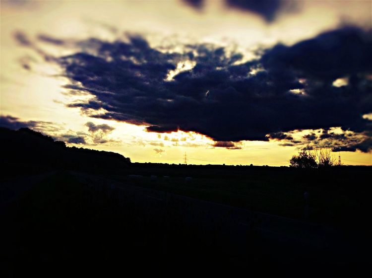 Sunset between Umkirch/Waltershofen South Germany