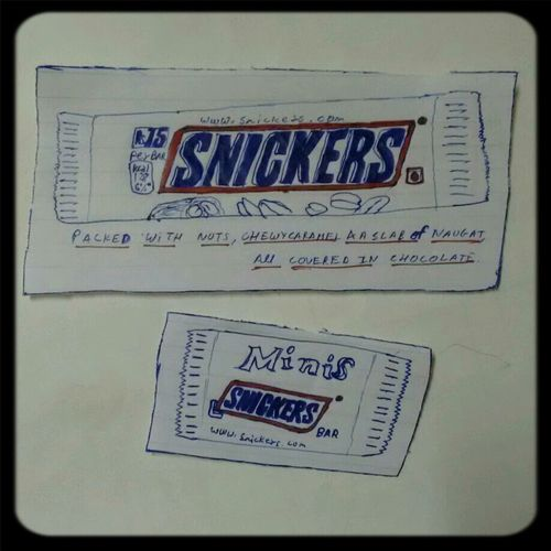 Drawing Snickers♥ Biggest And Craziest Fan