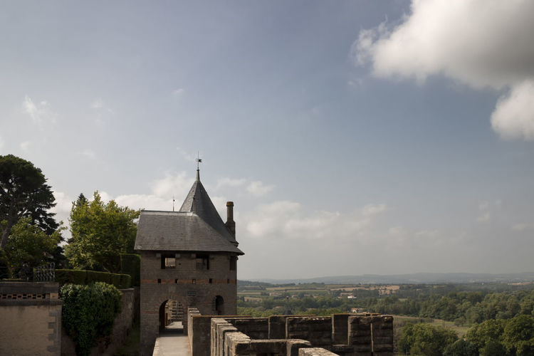 Architecture Building Exterior Built Structure Carcassonne Cloud - Sky Day Exterior Famous Place High Section History No People Outdoors Place Of Worship Sky Spire  Tourism Travel Destinations Wide Shot
