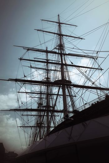 Cutty Sark Ship Sailing Ship Museum History Through The Lens  Historic Mast Sailing Vessel Clipper Clipper Ship Silhouette
