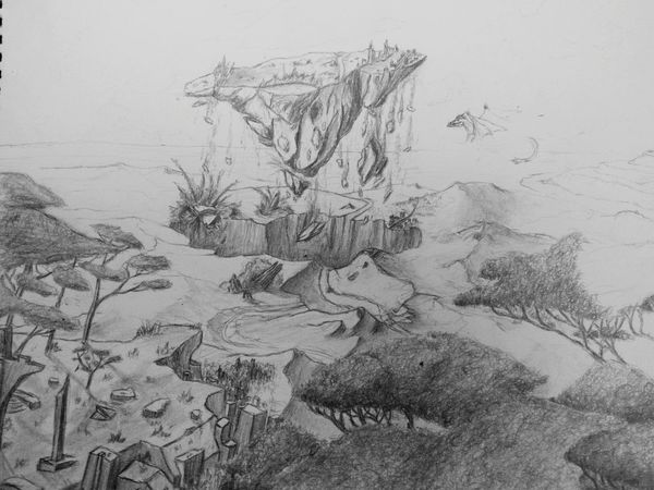 Am never gonna finish this one 😑 Drawing Landscape Rock Formation Fall Lets Jump Enjoying Life Creativity Getting Inspired Zaap'sdraws