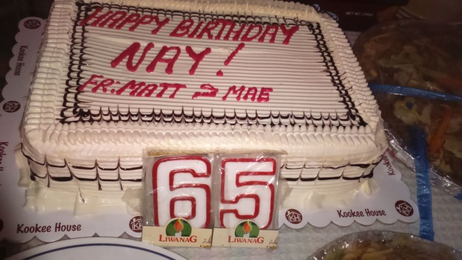 When my mather's b-day cake