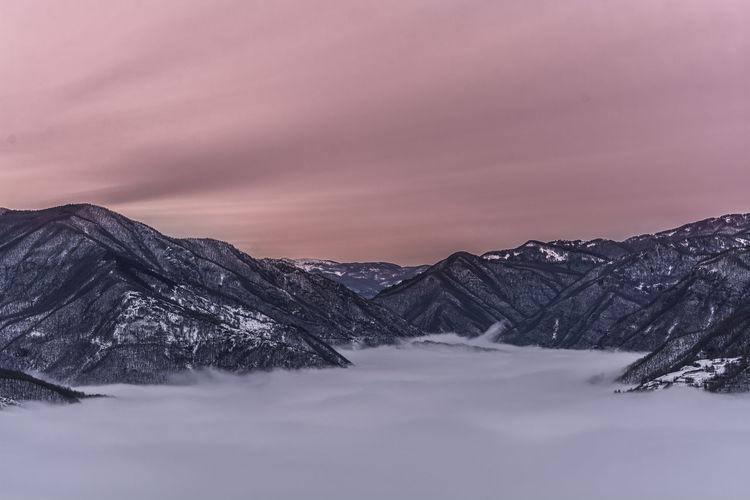 Fog sea!!! EyeEm Best Shots - Landscape Mountains Sunset Landscape_photography Fog Mountain View Nikon D7100