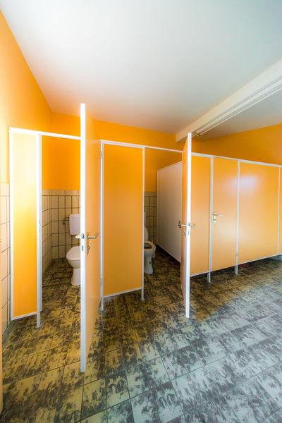 Restroom Toilet Architecture Built Structure Ceiling Classical Corridor Day Flooring Home Interior Home Showcase Interior Illuminated Indoors  Jacks No People Orange Color Toilet Art Yellow
