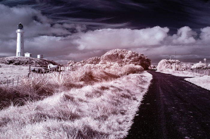 Sky And Clouds Walk In The Countryside Taranaki Landscape New Plymouth Rural Scene Egmont Lighthouse The Great Outdoors Infrared Photography Maori Landmark New Zealand Beauty