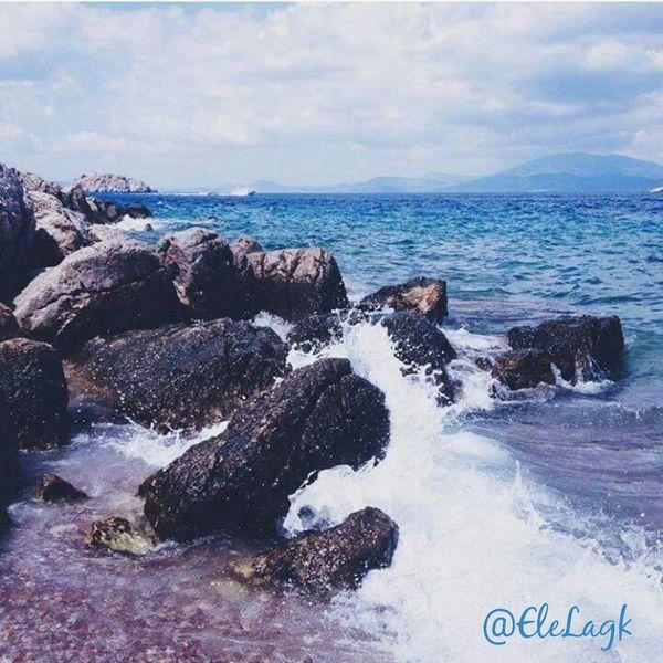Hydra Island Greece Myparadise Myhometown Sea Bluecolour Waves Breathing Space