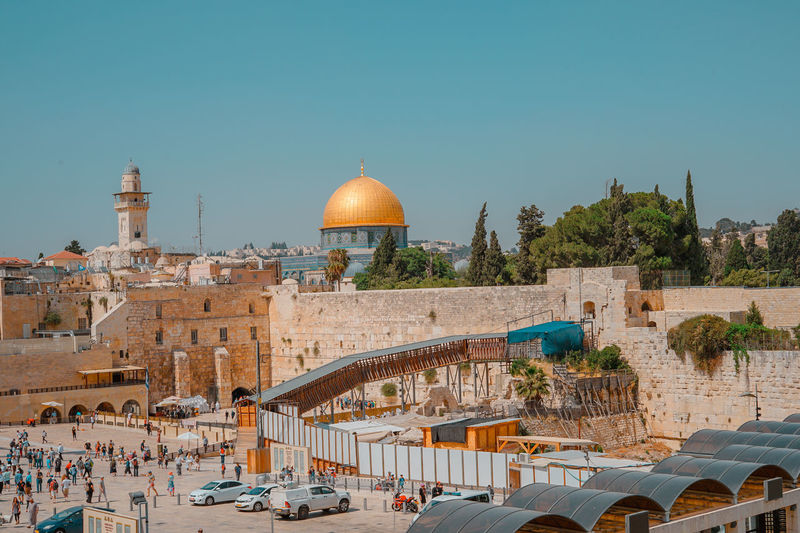 The Western Wall Architecture Belief Building Building Exterior Built Structure City Clear Sky Dome History Incidental People Israel Nature Outdoors Place Of Worship Religion Sky Spirituality The Past Tourism Transportation Travel Travel Destinations
