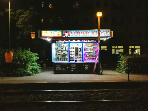 Illuminated City Night Horizontal Outdoors No People Shop Kiosk Späti Store Window