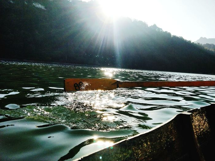 Nainital_the_city_of_lakes Nature Photography Photography Nature_perfection Boating In The Lake Water Lake Sunlight Nautical Vessel Reflection Sky Sun First Eyeem Photo Go Higher