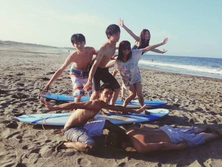 It's so funny time♡\(^o^)/ Hanging Out Sea #LastSummer❤ Friends